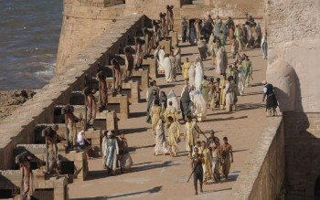 Filming of Games of thrones in Morocco